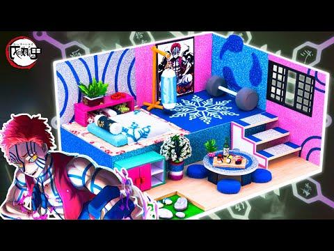 【鬼滅の刃】猗窩座の夢の家🖤猗窩座の家はどんな感じ?🌼💪猗窩座のミニチュアドールハウスを手作り工作✨