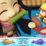 【鬼滅の刃】 Kimetsu No Yaiba 夏の魚すくいゲームに悪戦苦闘する鬼退治組